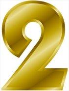 gold-number-2