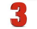 red-number-3